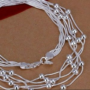 Sterling Silver Necklace w/Beads